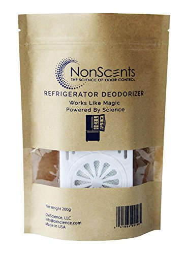 NonScents Refrigerator Deodorizer - Lasts Up to 6 Months - Removes Odor Fast - Outperforms Baking Soda & Charcoal - Non Scents