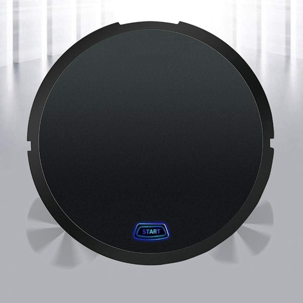 YZHM Chargement Automatique Robot de Balayage Mini Machine de Nettoyage Domestique Lazy aspirateur Intelligent Portable Pet Cheveux, Sol Dur, Moquette (Couleur, Rouge),Rouge Noir