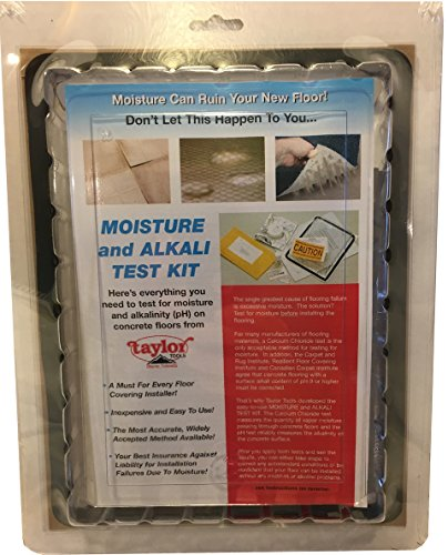 Concrete Floor Testing System, Contains: Calcium Chloride Moisture Test Kit and pH Test Kit