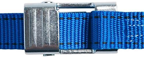 25mm幅 カムバックルベルト エンドレス 3.0m 青 10本セット