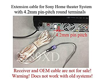 amazon com 12ft speaker extension cable wire cord for select sony 12ft speaker extension cable wire cord for select sony home theater system 4 2