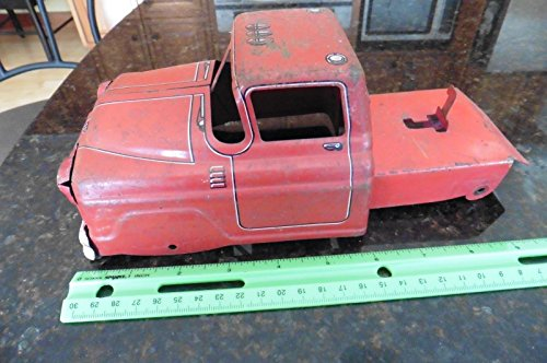 Louis Marx Vintage Dump truck PART Steel pressed toy red from Marx