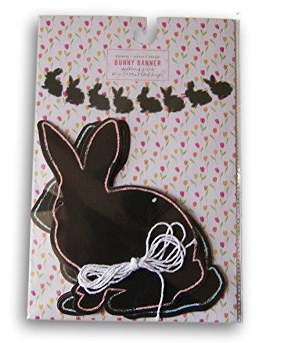 Springtime Easter Chalkboard Paper Bunny Banner - 60''
