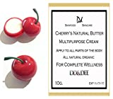 Cherry's Natural Butter Multipurpose Cream for Cracks, Rashes, Dark Circles Very Clear.Have Evening Primrose Oil, Rosehip Oil And More...Apply to All Parts of the Body.(recommended for Dry Skin) 10 G.