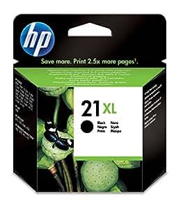HP 21XL - Cartucho de tinta Original HP 21XL de álta capacidad Negro para HP DeskJet 2130, 3630 HP OfficeJet 3830, 4650 HP ENVY 4520