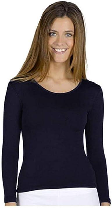 DEELIN Camiseta Termica Mujer Invierno Cálido Ligero Manga Larga Cuello Alto Top Ropa de Dormir Blusa: Amazon.es: Ropa y accesorios