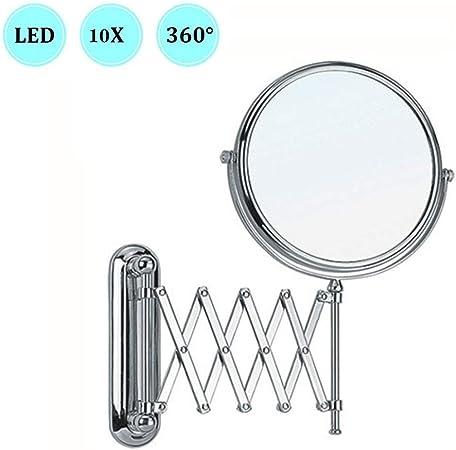 or salle de bains en cuivre miroir pliant 8 pouces double miroir miroirs muraux miroir grossissant miroir de maquillage grossissant 10 fois
