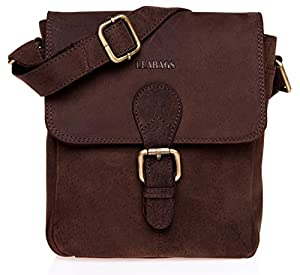LEABAGS Weston genuine buffalo leather city bag in vintage style