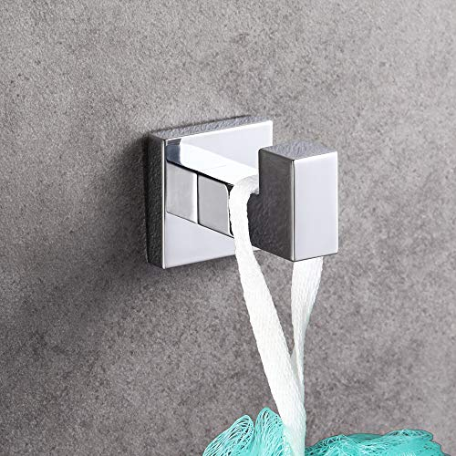LUCKUP 4 Piece Bath Hardware Towel Bar Accessory, Includes Towel Bar, Robe Hook, Towel Ring, and Toilet Paper Holder, 304 Stainless Steel Wall Mounted,Polished Chrome … … by LUCKUP (Image #4)