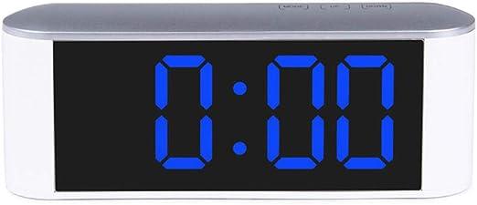 Sinzong Reloj Despertador Espejo Reloj Led Reloj Despertador ...