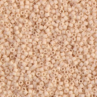 Miyuki Delica 11/0 Cylinder Seed Beads - Matte Op Antique Beige - DB0353 5 -