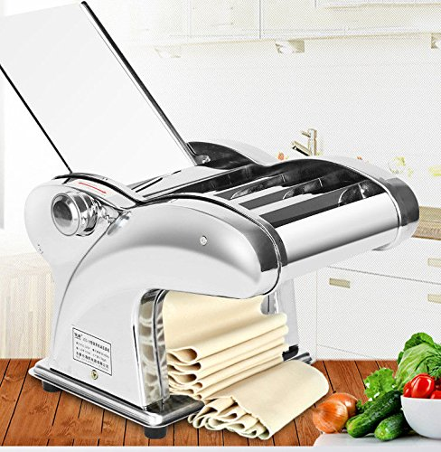 TOPCHANCES 220V Home Commercial Stainless Steel 220V Electric Dumpling Dough Skin Noodles Pasta Maker Machine Automatic 135W