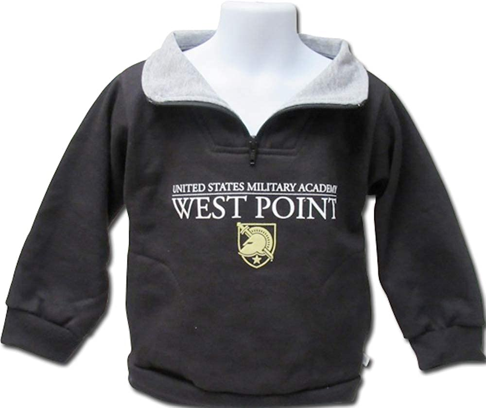 United States US Military Academy Army West Point Boys Youth Quarter Zip Pullover Fleece Sweater
