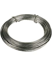 Bulk Hardware BH00326 Galvanised Coated Garden Wire, 1.6mm x 30 Metres (97.5ft) 14 Gauge 1/16 inch Thickness