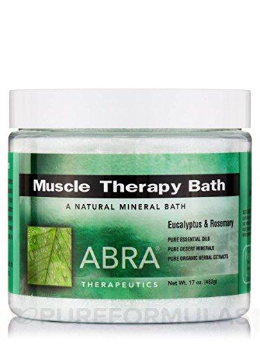 Abra Muscle Therapy Sea Salt Bath, Eucalyptus & Rosemary, 1 (Herbal Bath Salt)