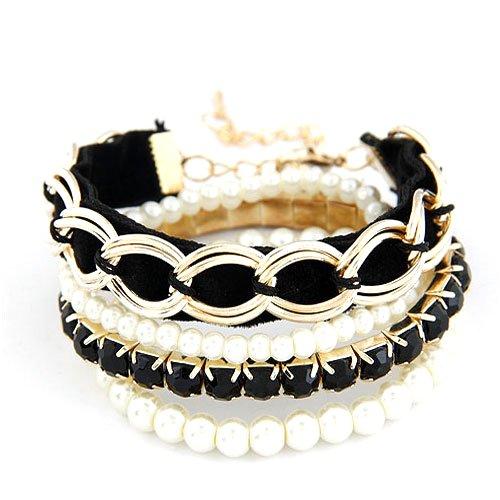 Dandingding Exquisite Multi Element Pearl Multi-storey Bracelet