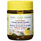 GoBIO! Organic Bouillon Cubes and Broth-Low Sodium Chicken Broth Powder (Jar)