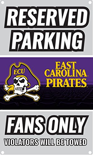 NCAA Parking For Fans Only Metal Sign (East Carolina Pirates)