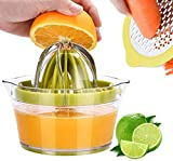 Drizom Citrus Lemon Orange Juicer Manual Hand Squeezer with Built-in Measuring Cup...