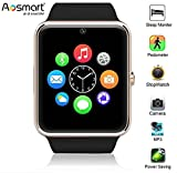Bluetooth Smart Watch, Aosmart G88 Smartwatch for Android Smartphones (Silver)
