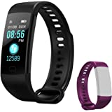 Holidayer Y5 Fitness Tracker, Color Screen Fitness Watch Activity Tracker with Heart Rate Monitor, IP67 Waterproof Pedometer for Women Men Kids
