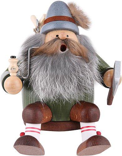 KWO Sitting Lumberjack German Christmas Incense Smoker Handcrafted in Germany (German Incense Smoker)