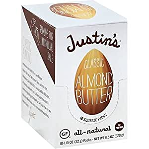 Justin's Classic Almond Butter Squeeze Pack, 1.15 oz