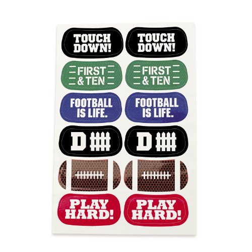 Fun Express Football Face Tattoos - 6 Sheets (Football Temporary Tattoos)