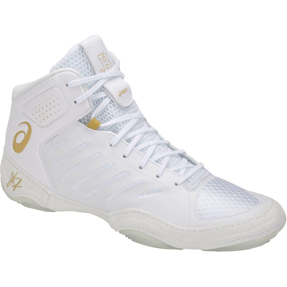 ASICS JB Elite III Men's Wrestling Shoes, White/Rich Gold, Size 11.5