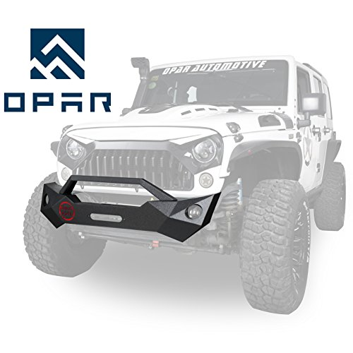Jeep Wrangler FRAGMENTATION Front Bumper w/ Winch Plate for 2007-2018 Jeep JK & Wrangler Unlimited