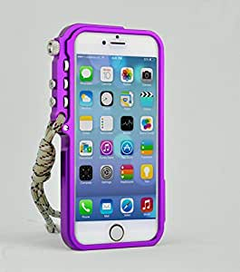 Aokland Aluminum Metal Bumper Cleave Frame Case for Apple iPhone 6 4.7 inch Bend-free keep away from bending,Anti-bending (Purple)