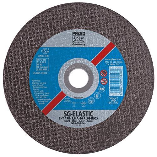 PFERD 63612 7'' x .045'' Cut-Off Wheel, 7/8'' AH A 46 R SG-INOX - Type 1 (25pk)