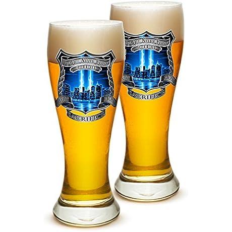 Pilsner Police Officer Gifts For Men Or Women Law Enforcement Beer Glassware Tribute Honor Police Barware Glasses Set Of 24 23 Oz