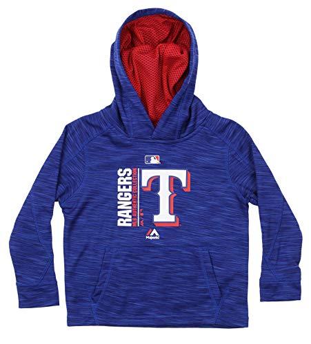 Outerstuff MLB Little Boy's (4-7) Texas Rangers AC Team Icon Hooded Fleece, Blue Medium (5-6) (Texas Rangers Mlb Hoody)