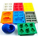 Set of 8 Star Wars Silicone Ice Trays / Chocolate Molds: Stormtrooper, Darth Vader, X-Wing Fighter, Millennium Falcon, R2-D2, Han Solo, Boba Fett, and Death Star