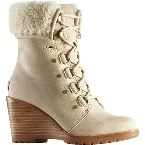 Sorel Women's After Hours Lace Shearling Oatmeal High-Top Nubuck Boot - 10M