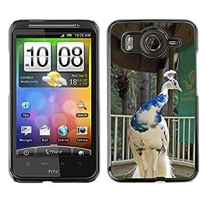 Caucho caso de Shell duro de la cubierta de accesorios de protección BY RAYDREAMMM - HTC G10 - Porcelain White Blue Crown