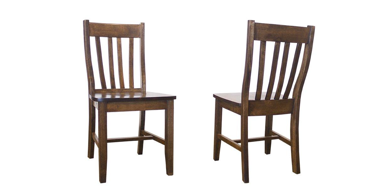 Amazon.com: Madera Sólida Henry silla de comedor, Juego de 2 ...