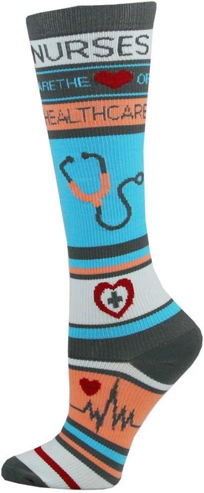 Think Medical Women's Nurse Print 10-14mmHg Compression Sock (Nurse Healthcare)
