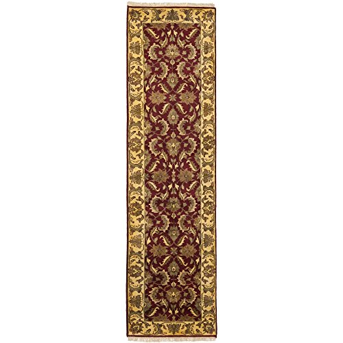 Safavieh Jaipur Collection JAP412B Handmade Red and Gold Wool Runner (2'6