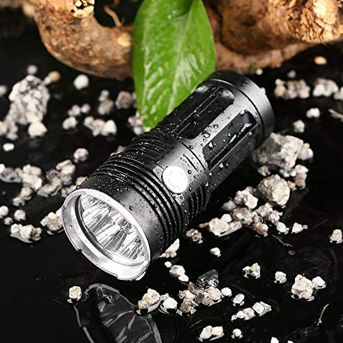 ZYD SF34 Powerful LED Flashlight 2000LM Cree LED Torch Light 18650 Flashlight 5 Modes Portable Lamp Light,Gold,6*T6