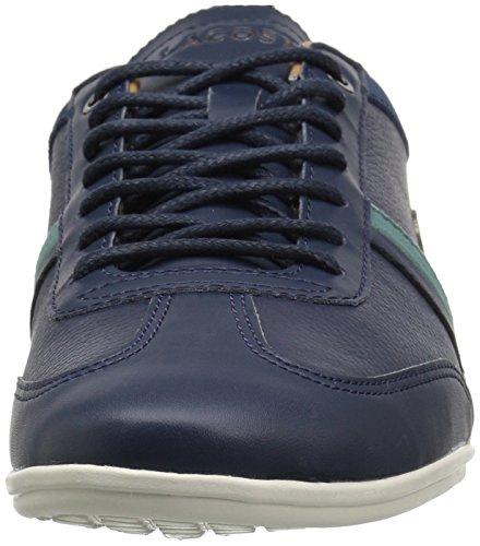 Lacoste Heren Misano Sneakers Nvy / Groen Leer