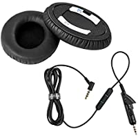 Unifive Replacement Audio Cable and Ear Pads for Bose QuietComfort 15 Headphones(EPC-15)
