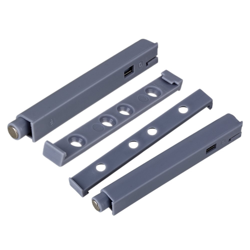 BQLZR Grey Push To Open System Damper Buffer for Cabinet Door Drawer Catch Latch with Magnetic Tip Pack of 10