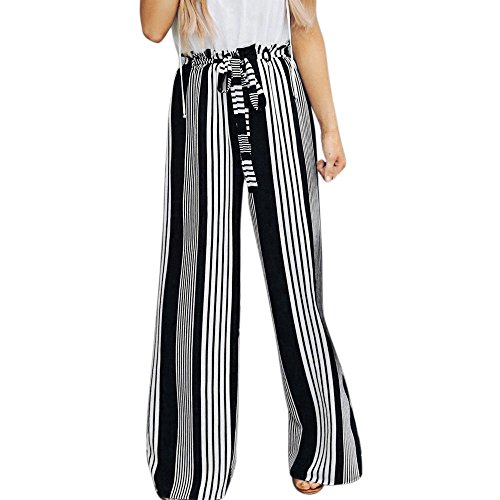 UONQD Womens Pants Summer Wide Leg High Waist