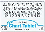 Becker's School Supplies Pacon Chart Tablet Packs, 24'' x 16'', 1½'' Ruling, (Pack of 4)