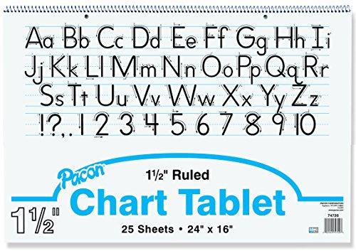 Becker's School Supplies Pacon Chart Tablet Packs, 24'' x 16'', 1½'' Ruling, (Pack of 4) by Becker's School Supplies