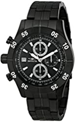 Invicta Men's 11279 Specialty Chronograph Black Textured Dial Black Ion-Plated Stainless Steel Watch