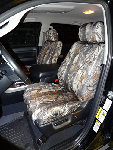 Toyota Tundra Crew Max Front and Back Seat Set in Camo Endura. Front Buckets with Airbags and Rear 60/40 Split Bench with Armrest