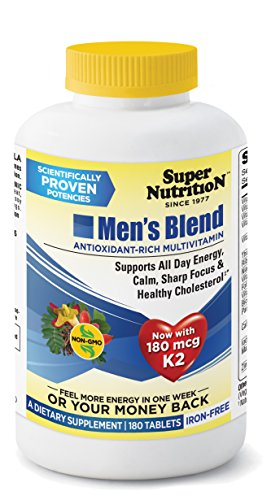 SuperNutrition Men's Blend Multivitamin, Iron-Free, 180 Count